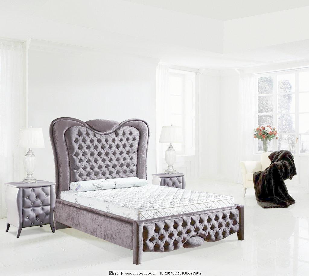 欧式卧室灰色系