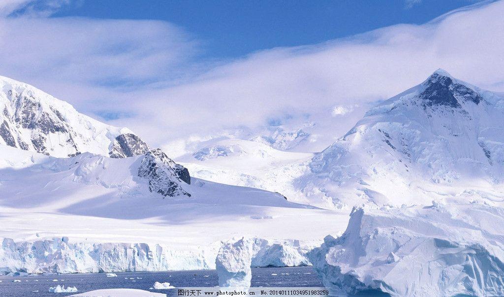 雪地素材冰山背景图片