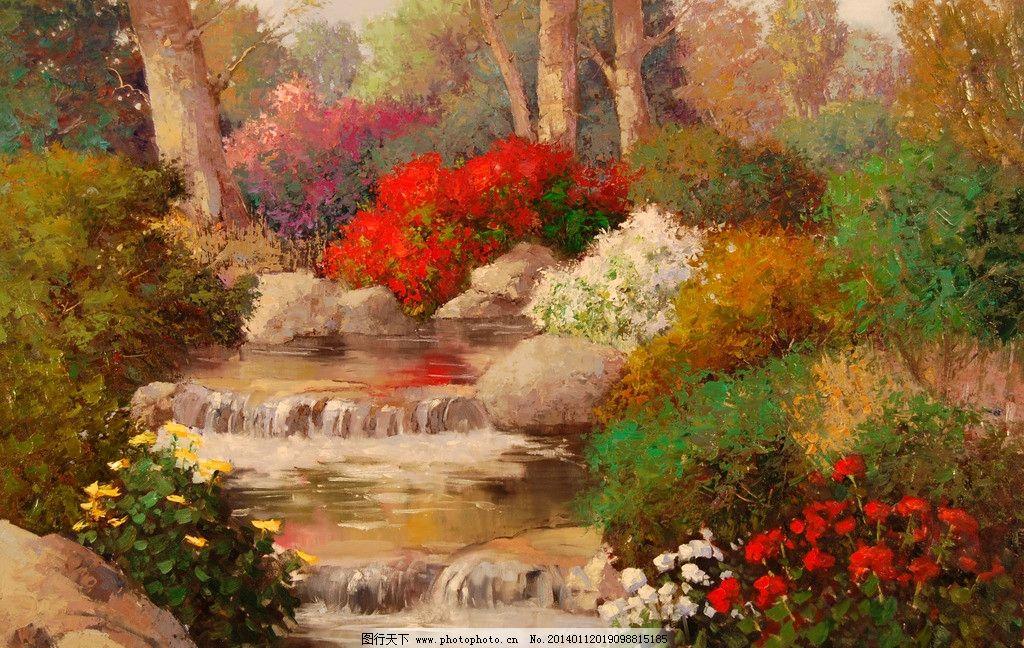 风景油画绘画 美术 色彩 重彩 欧式油画 风景画 大自然风景 西方油画