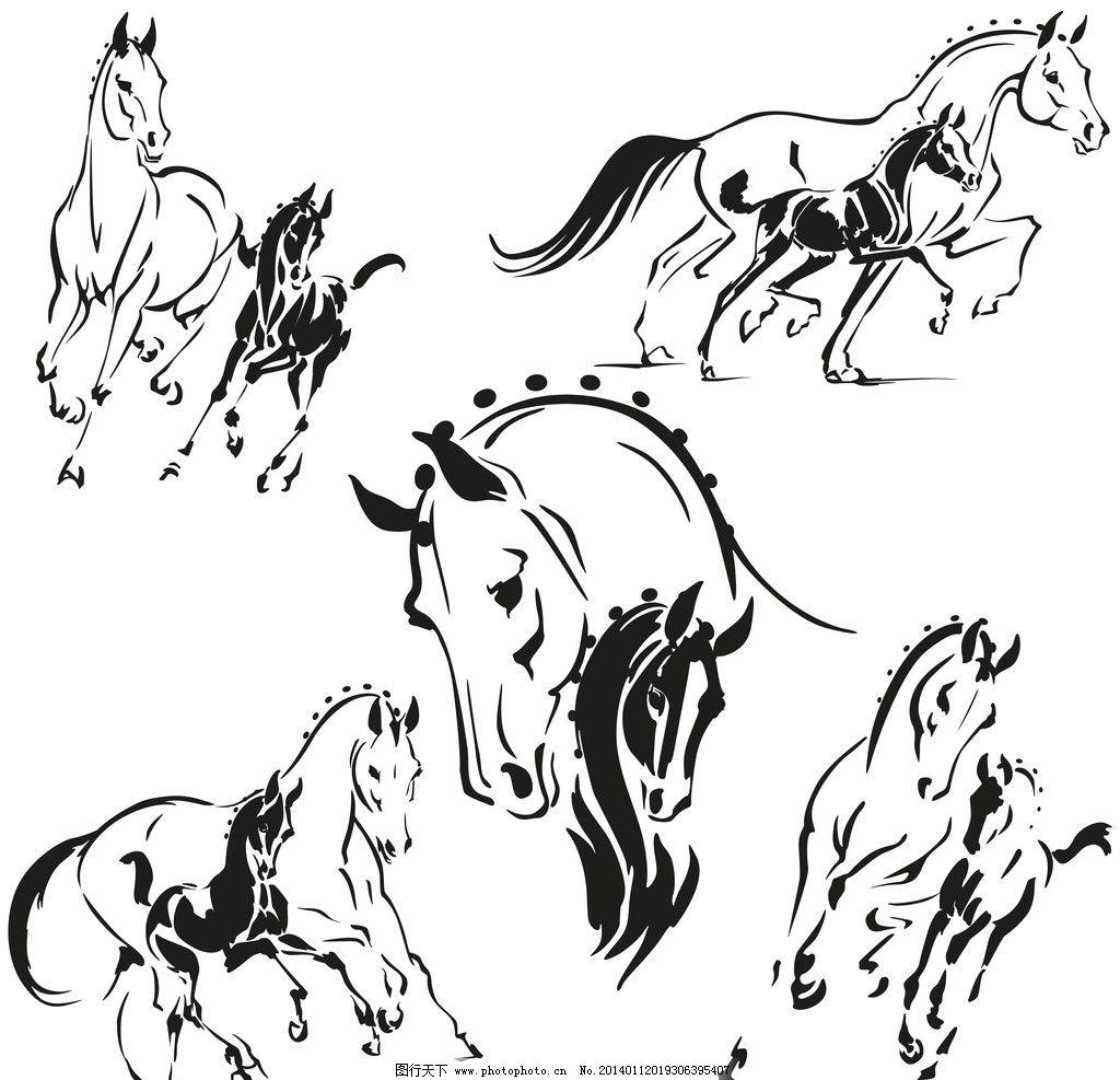 画马的步骤复杂图画