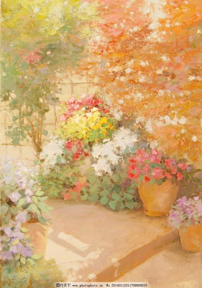 风景油画绘画 大自然风景 风景画 绘画书法 美术 欧式油画 色彩
