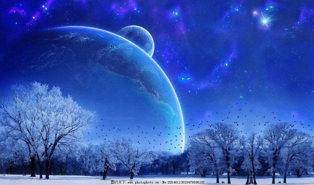 蓝色天空 蓝天科技 蓝色科技 蓝天夜晚 蓝天夜景 蓝天背景 风景漫画