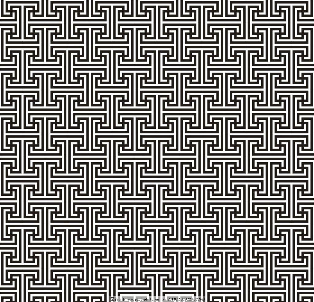万字纹图片,四方连续 二方连续 中式花纹 中式背景-图