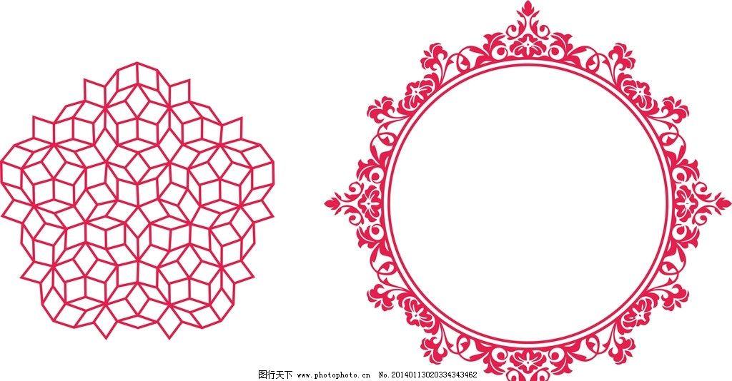菱形圆花纹图片