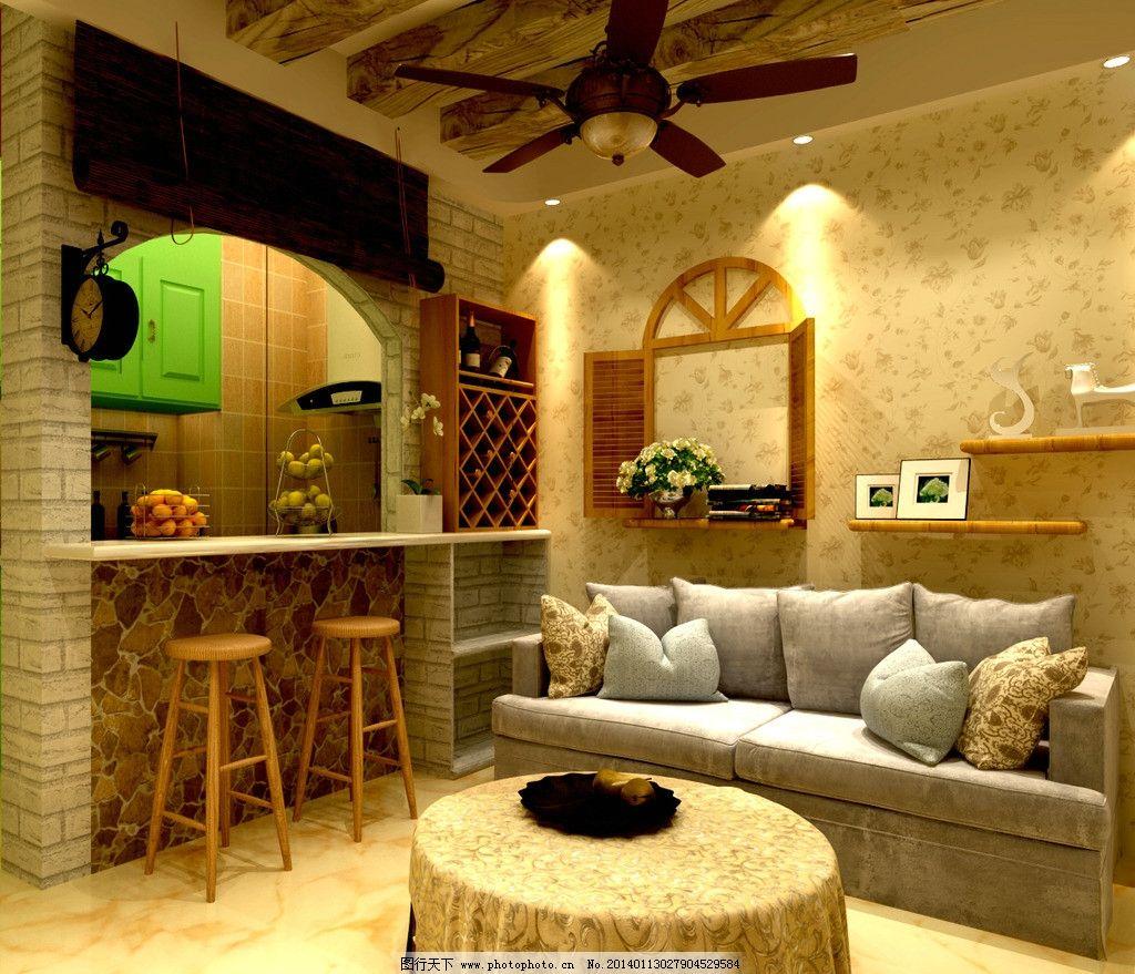 田园客厅 风格 装修 效果图 沙发