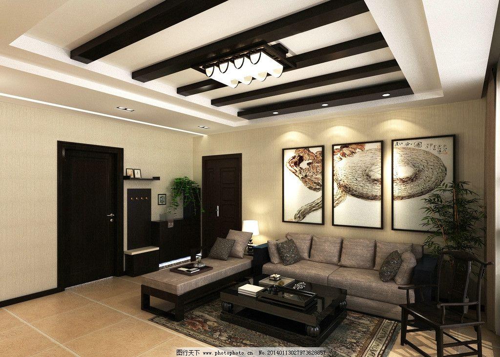 简单中式家装效果图 简单 中式 家装        沙发背景墙 鞋柜 室内