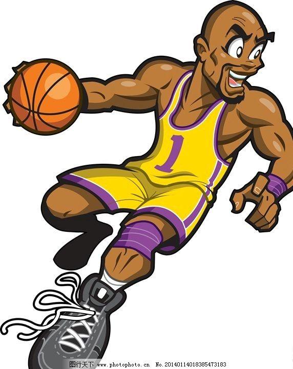 卡通人物设计 打篮球 nba 卡通人物 背景素材 背景图案 矢量背景 背景