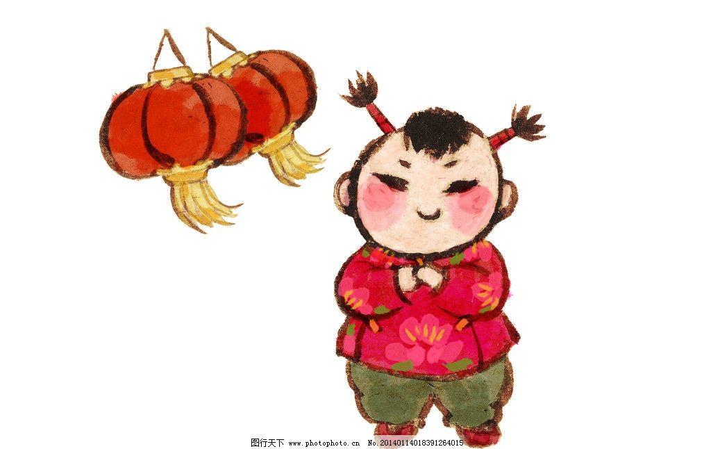 灯笼娃娃图片_动漫人物_动漫卡通_图行天下图库
