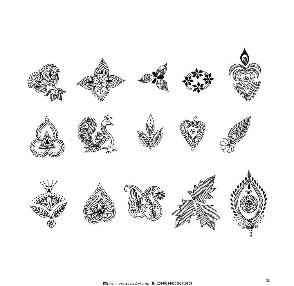 印度花纹 佛教 复古 歌特 纹样 图案设计 服装图案设计 花边花纹 底纹