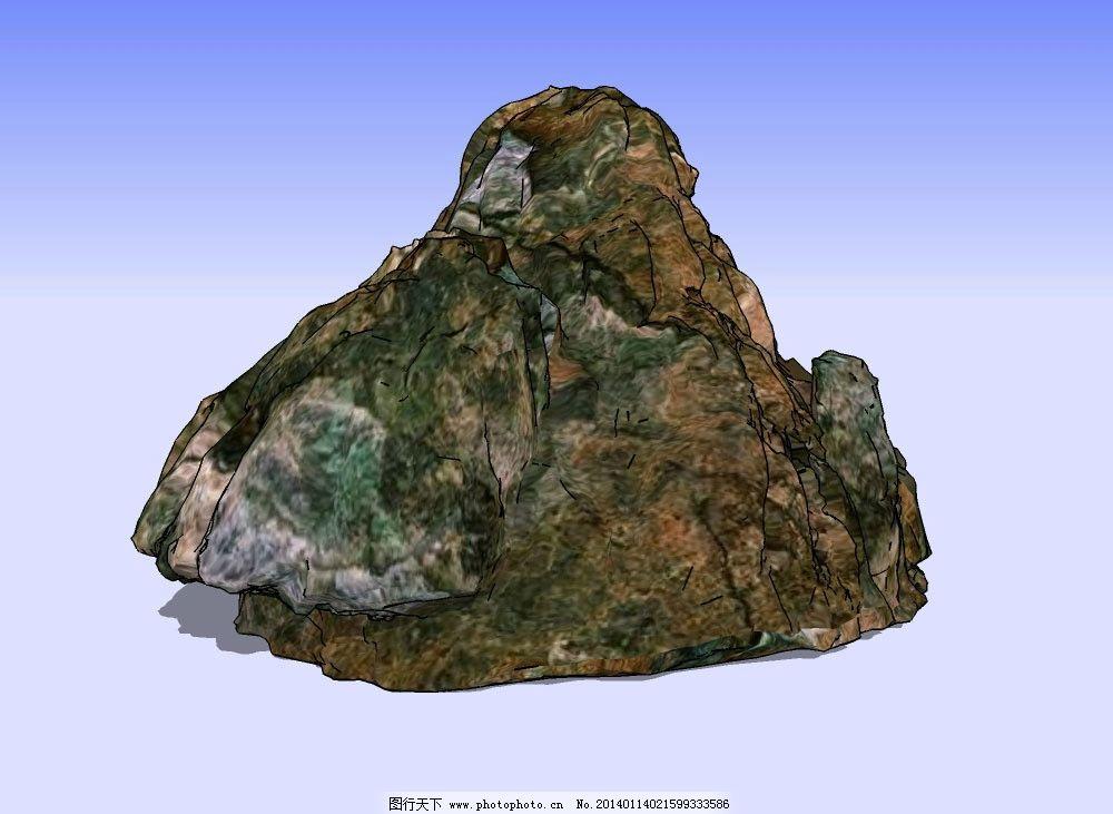 山体3d模型 山峰 山峦 山石 石头 石块 悬崖 峭壁 地形 地貌