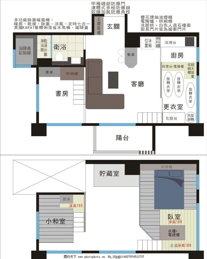 家俱配置 建筑图平面图 户型图 家具图 家俱图 俯视图 室内设计 建筑