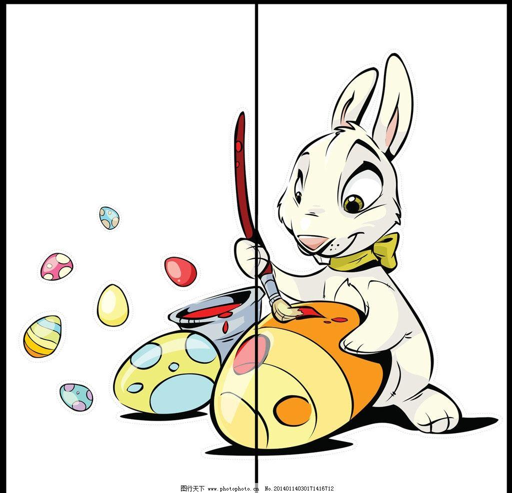 移门 屏风 卡通画 漫画 绘画 儿童画 水彩画 手绘 卡通兔子 小白兔