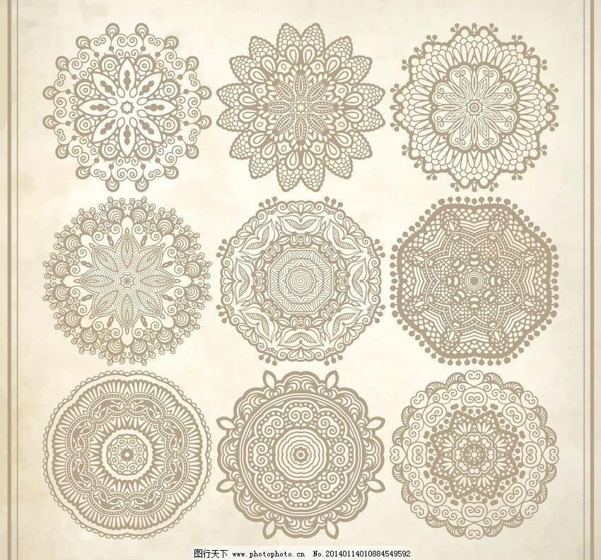 底纹边框 动感 古典花纹矢量素材 古典花纹模板下载 古典花纹 团花