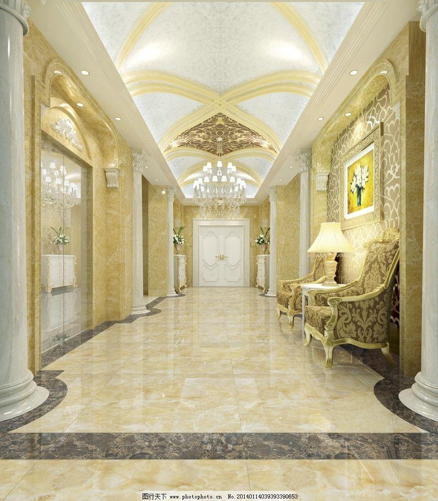 效果图装潢 家装 欧式风格 灯光奢华 欧式豪宅 灯光 金碧辉煌 别墅