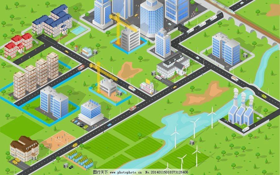 卡通城市设计 卡通城市 立体城市 城市 城市设计 城市规划 城市全景