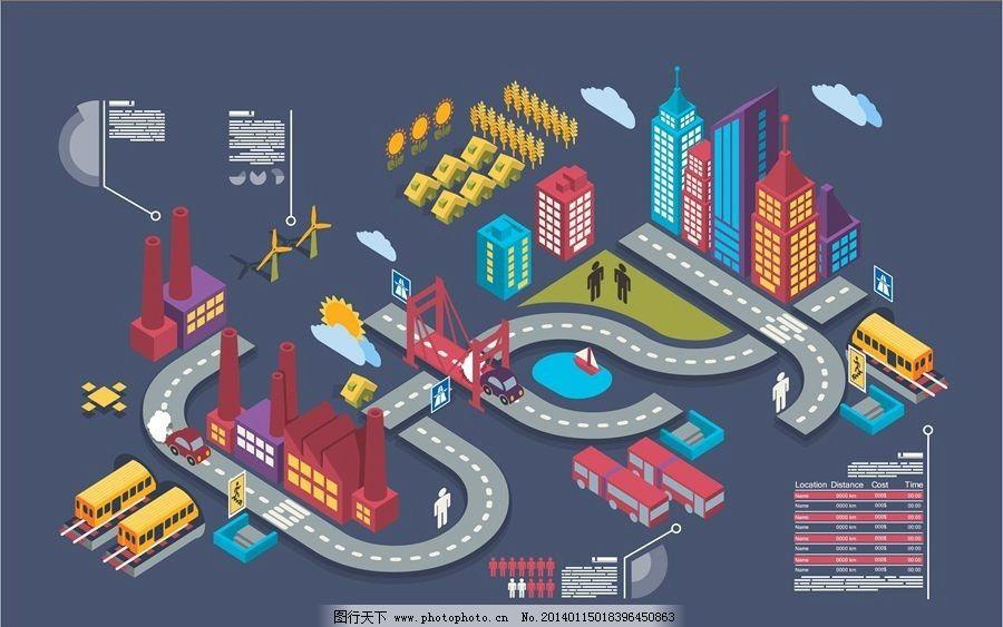 设计图库 动漫卡通 动漫人物  卡通城市设计 卡通城市 立体城市 城市