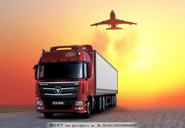 300dpi jpg 飞机 交通工具 卡车 设计 物流 现代科技 重卡 欧曼插图