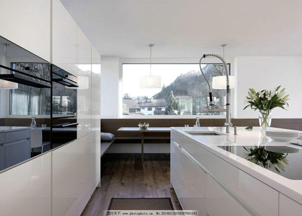 现代空间厨房 现代感      白色 简洁 透视 室内摄影 建筑园林 摄影