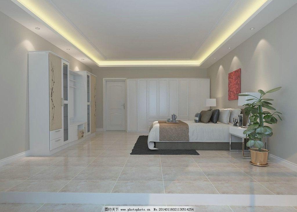 室内家装设计 家装卧室 室内设计 简装小户型 原创 衣柜 床 电视柜