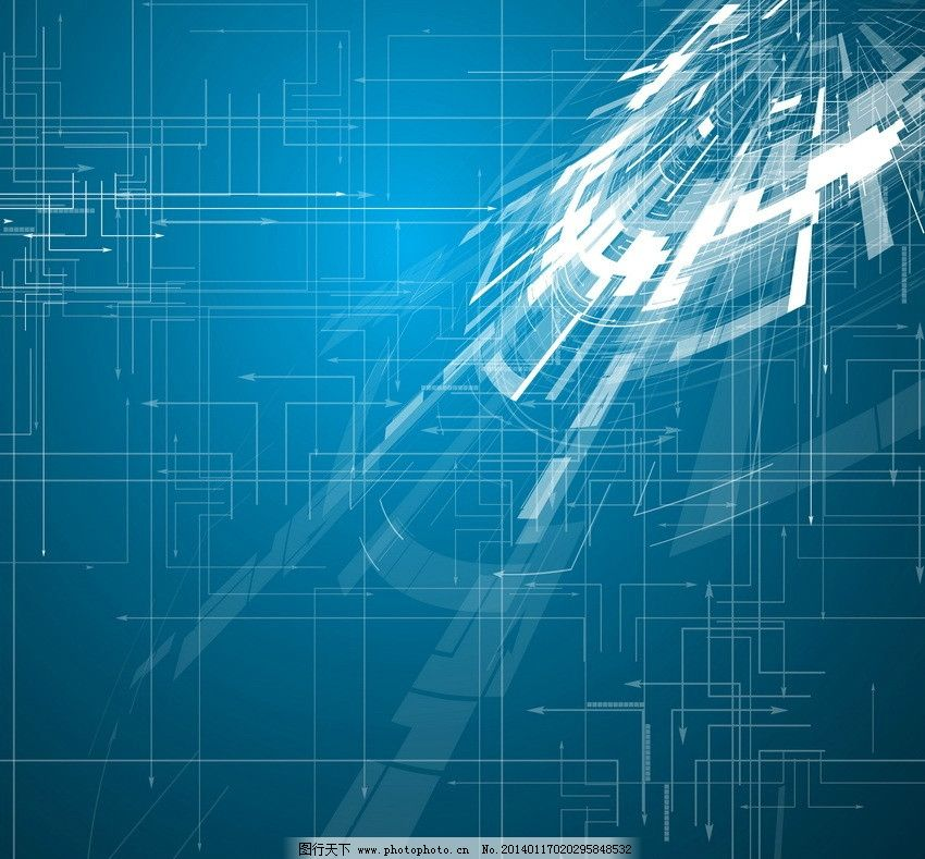 蓝色科技背景 动感 线条 箭头 光线 科技背景 创意背景 创意信息 抽象