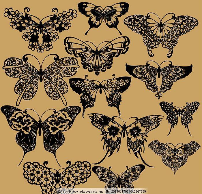蝴蝶 抽象 线稿 白描 昆虫 矢量 矢量图 ai cs5 立体 自然 动物 翅膀