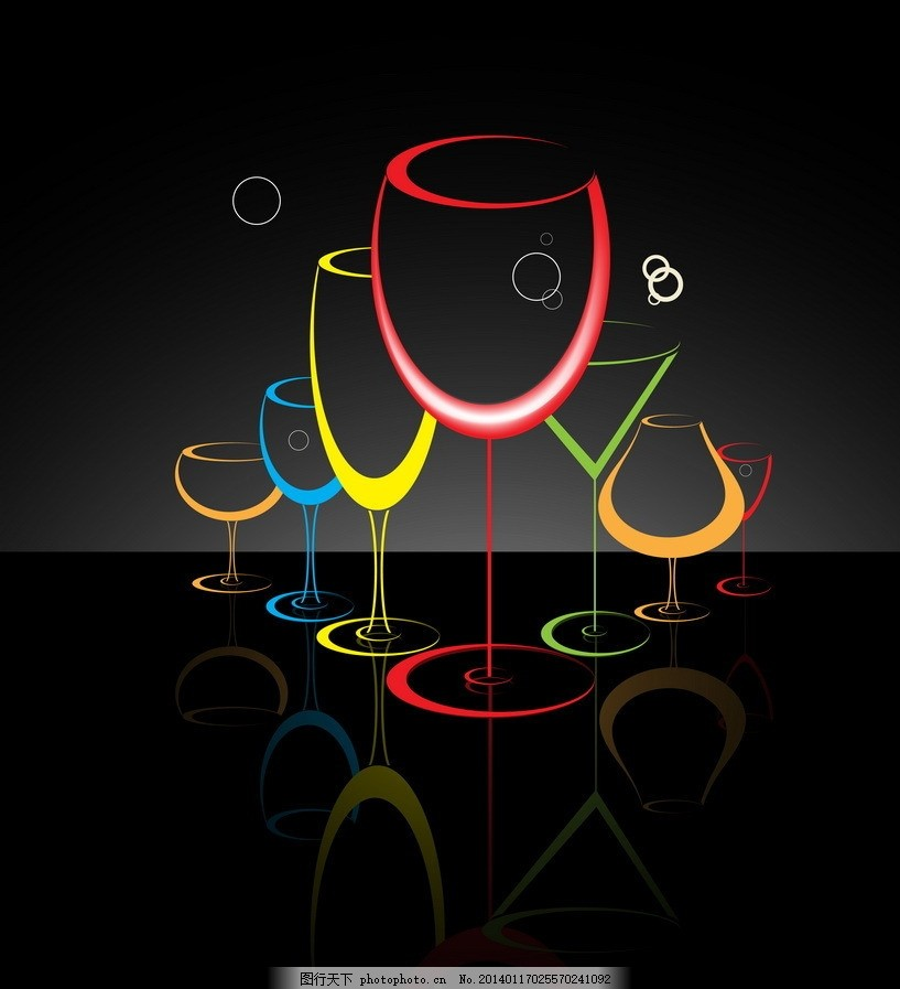 手绘酒杯 酒杯 高脚杯 线条 手绘 矢量 生活用品 生活百科 eps