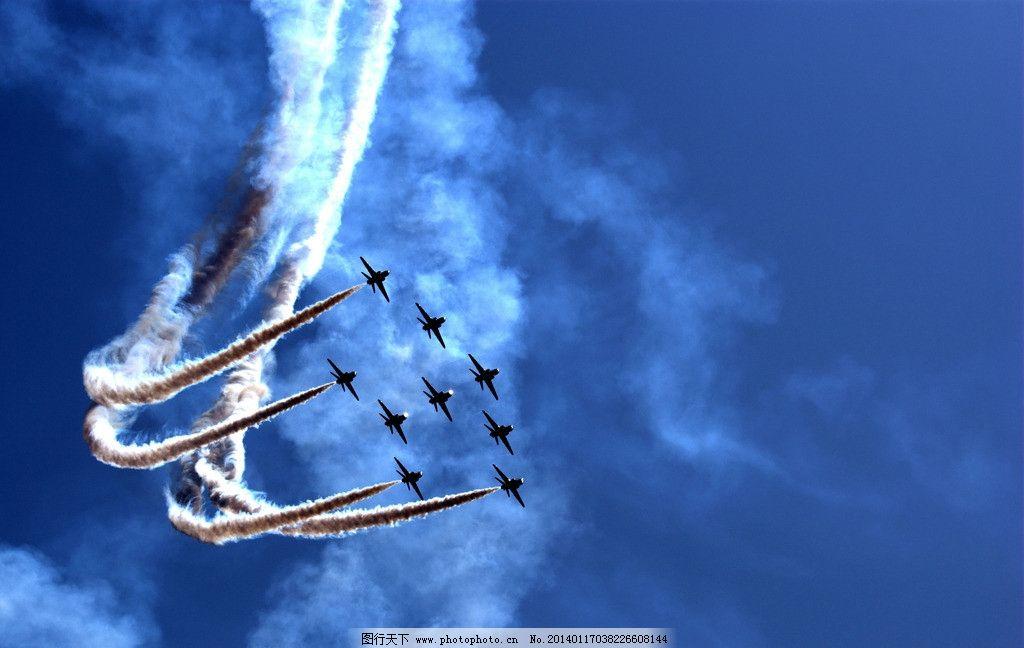 飞机表演 战斗机群 机群
