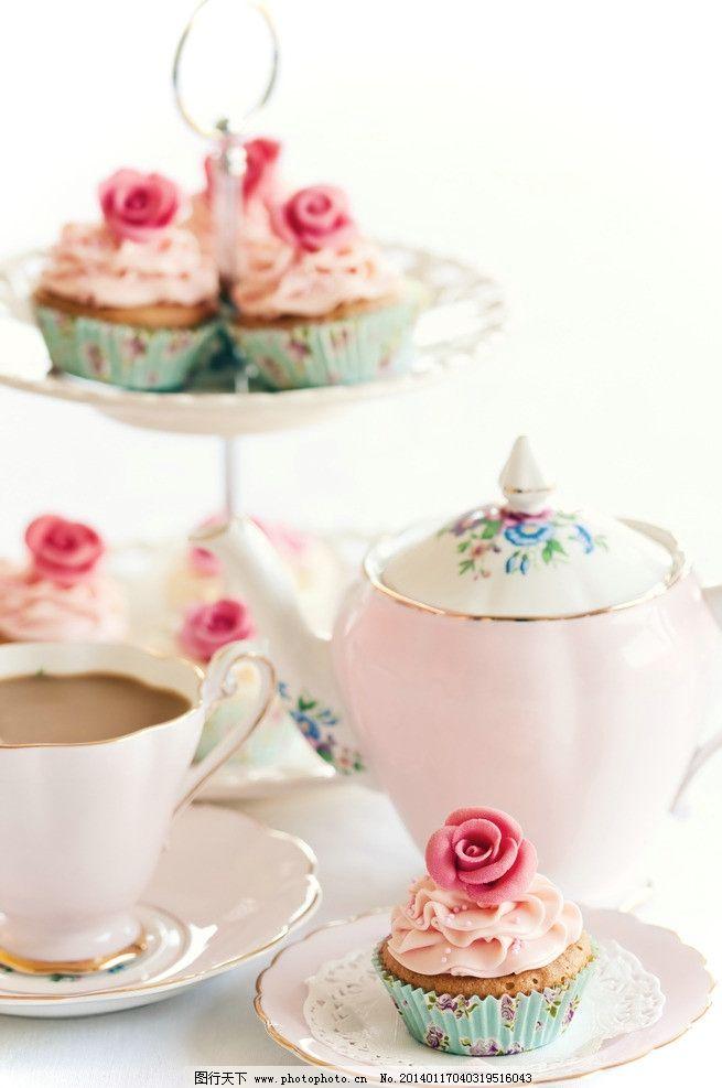 小清新下午茶美食 下午茶 糕点 点心 甜点 蛋糕 茶点 小清新 英式下午