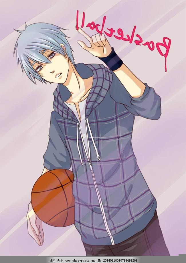 帅气的篮球少年_可爱卡通_动漫卡通_图行天下图库