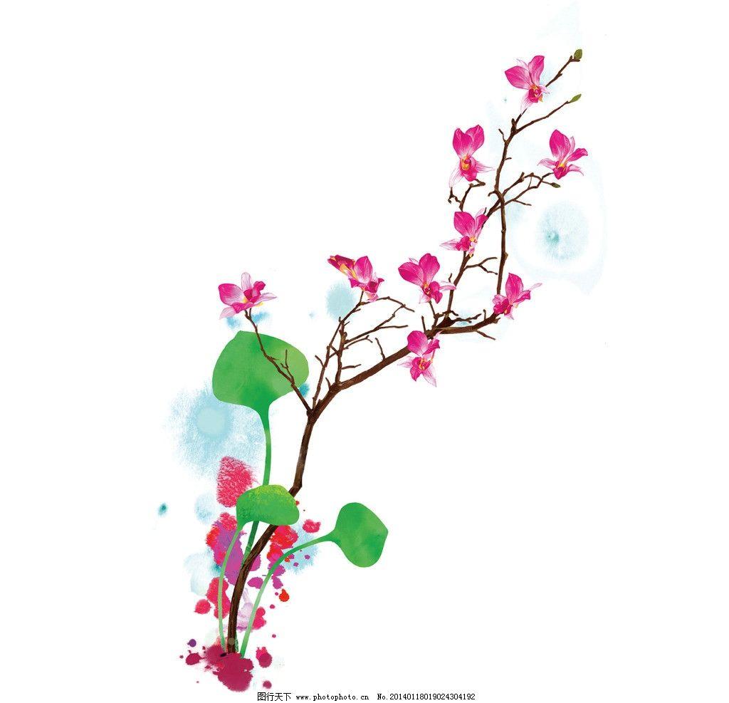 花型图案 花型设计 兰花 水彩花 图案花型 绘画书法 文化艺术