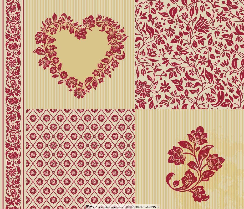 情人节 情人节背景 手绘 欧式花纹 花边 手绘花卉 玫瑰花 边框 求爱
