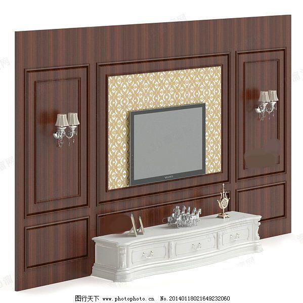 欧式电视背景墙素材