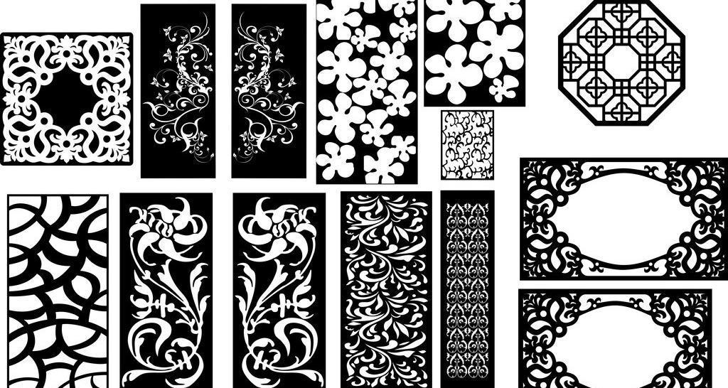 cdr 边框相框 底纹边框 雕花 镂空 镂空雕花 镂空花纹 矢量线条 木雕