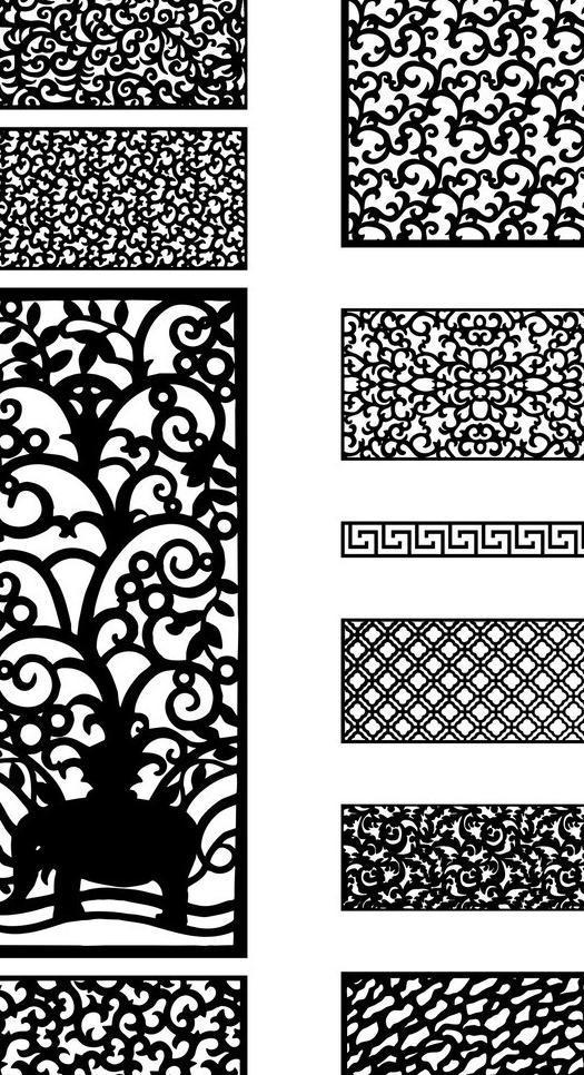 木雕镂空图片免费下载 cdr 边框相框 底纹边框 雕花 镂空 镂空雕花