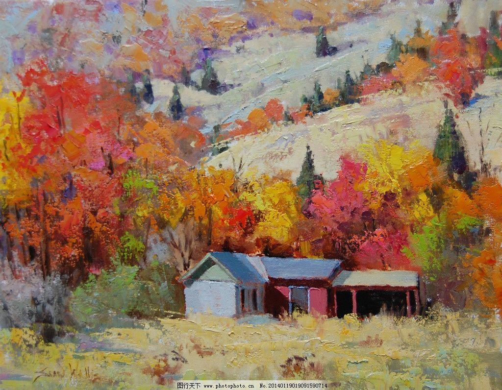 风景油画绘画 欧式油画 风景画 大自然风景 西方油画 油画艺术