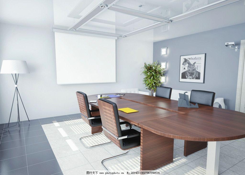 设计图库 环境设计 室内设计  会议室 办公会议室 银行会议室 会议室