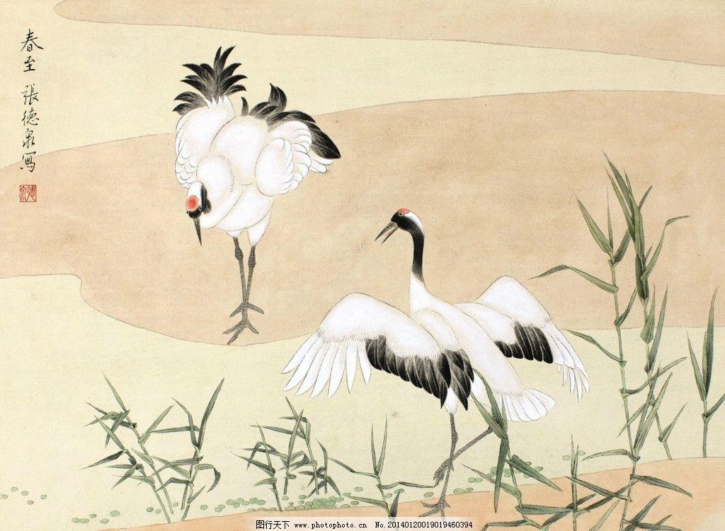 仙鹤 国画 花鸟画 工笔画 张德泉 绘画书法 文化艺术 设计 72dpi jpg