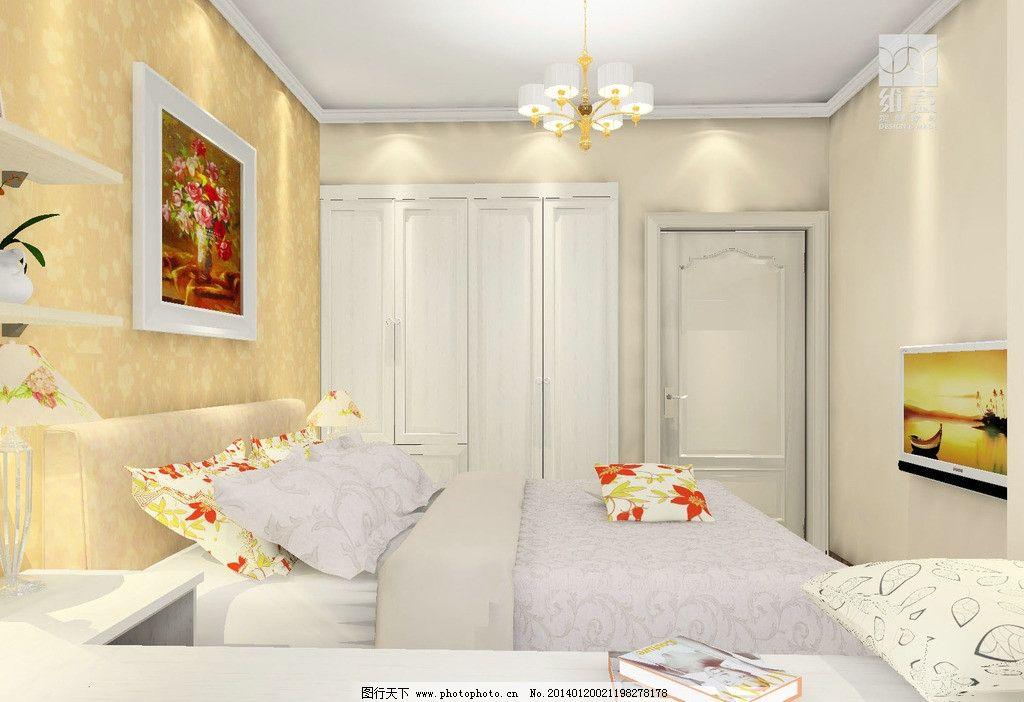 室内设计 床 衣柜 飘窗柜 床头柜 吊柜 家装设计