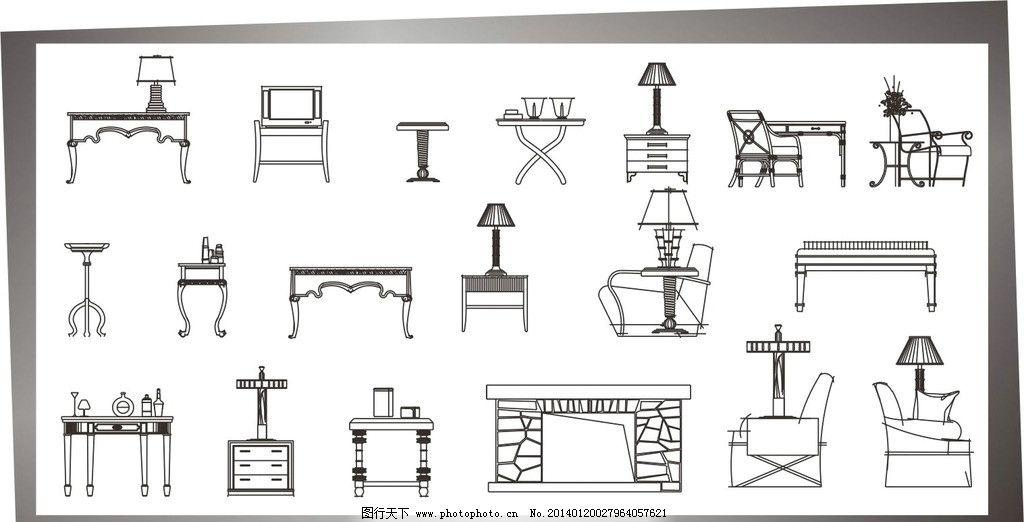 桌椅 立面 室内设计 cad制图 失量图 餐桌餐椅立面图 建筑家居 矢量