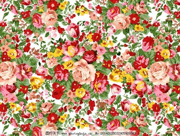 玫瑰花背景 复古玫瑰 手绘 红玫瑰 花朵 花卉 叶子 花纹 欧式