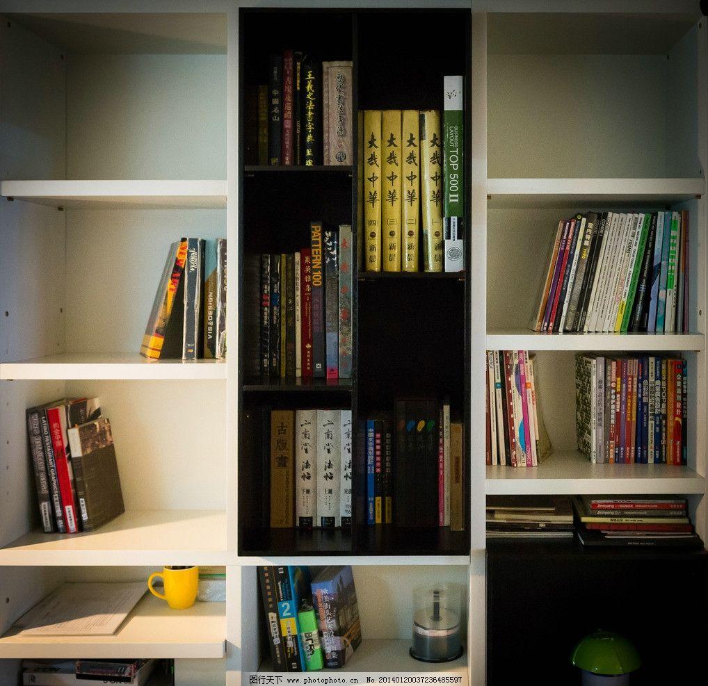 摄影图库 生活百科 学习办公  高清书柜照片 书柜 书籍 知识 格子