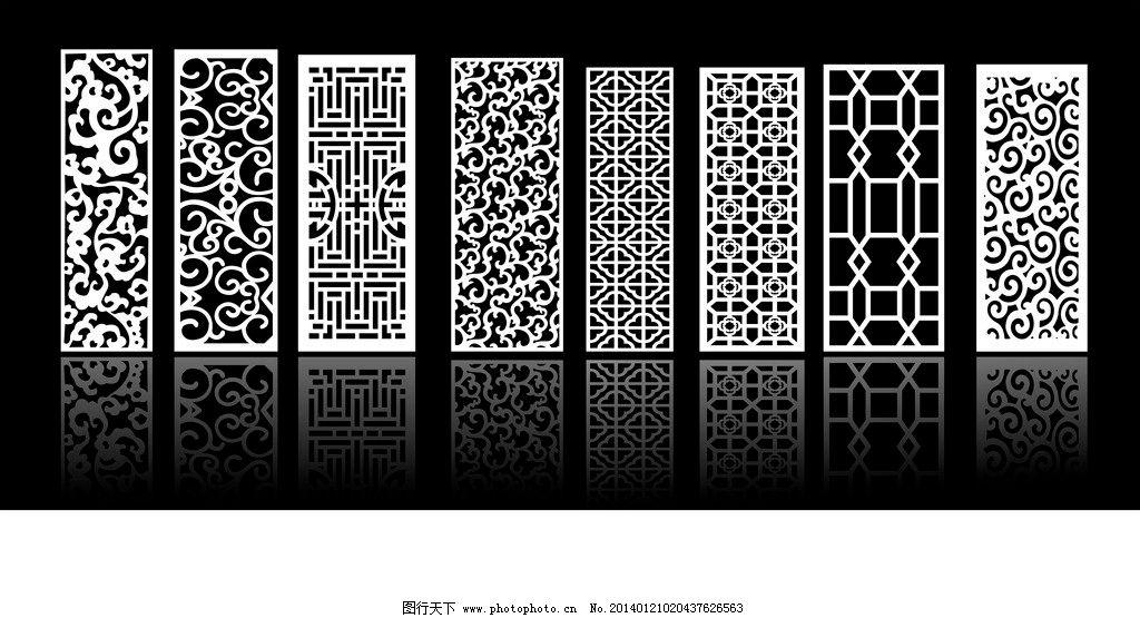 木雕镂空 雕刻 花雕 镂空花纹 镂空花雕 矢量线条 边框相框 底纹边框