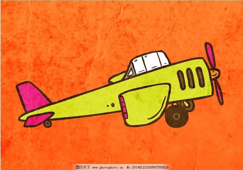 轰炸机 老式飞机 卡通背景 矢量设计 卡通设计 背景设计 背景图案