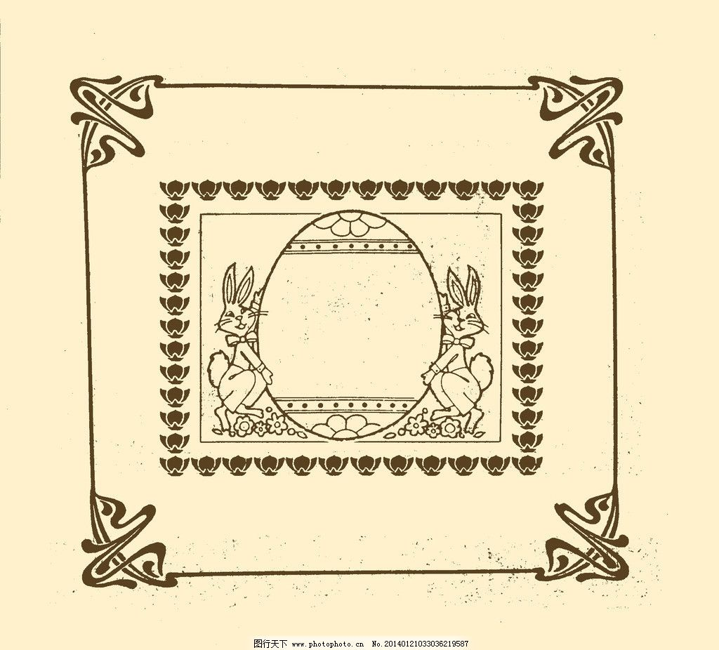 边框 边线 外框 花边 框线 装饰 非矢量 复古 边框角花 psd分层素材