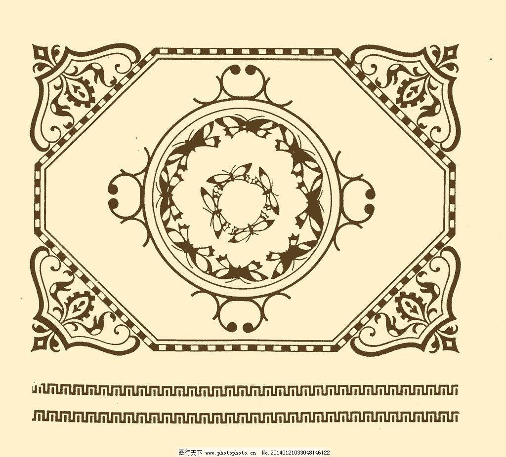 边框 边线 外框 花边 框线 装饰 非矢量 复古 欧式 边框角花 psd分层