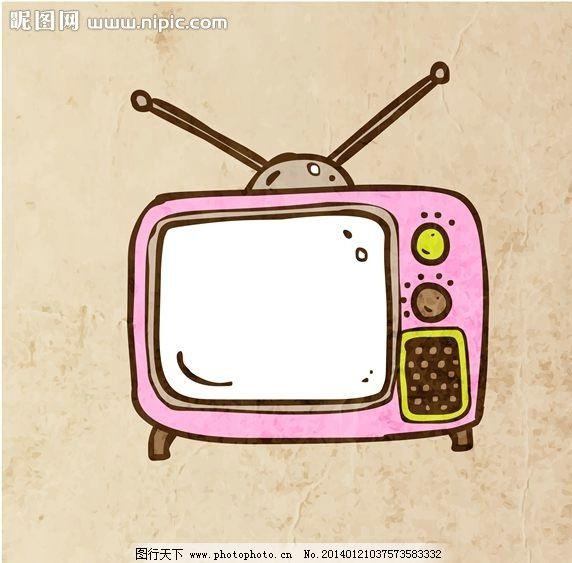 电视机 卡通背景 矢量设计 卡通设计 背景设计 背景图案 背景素材