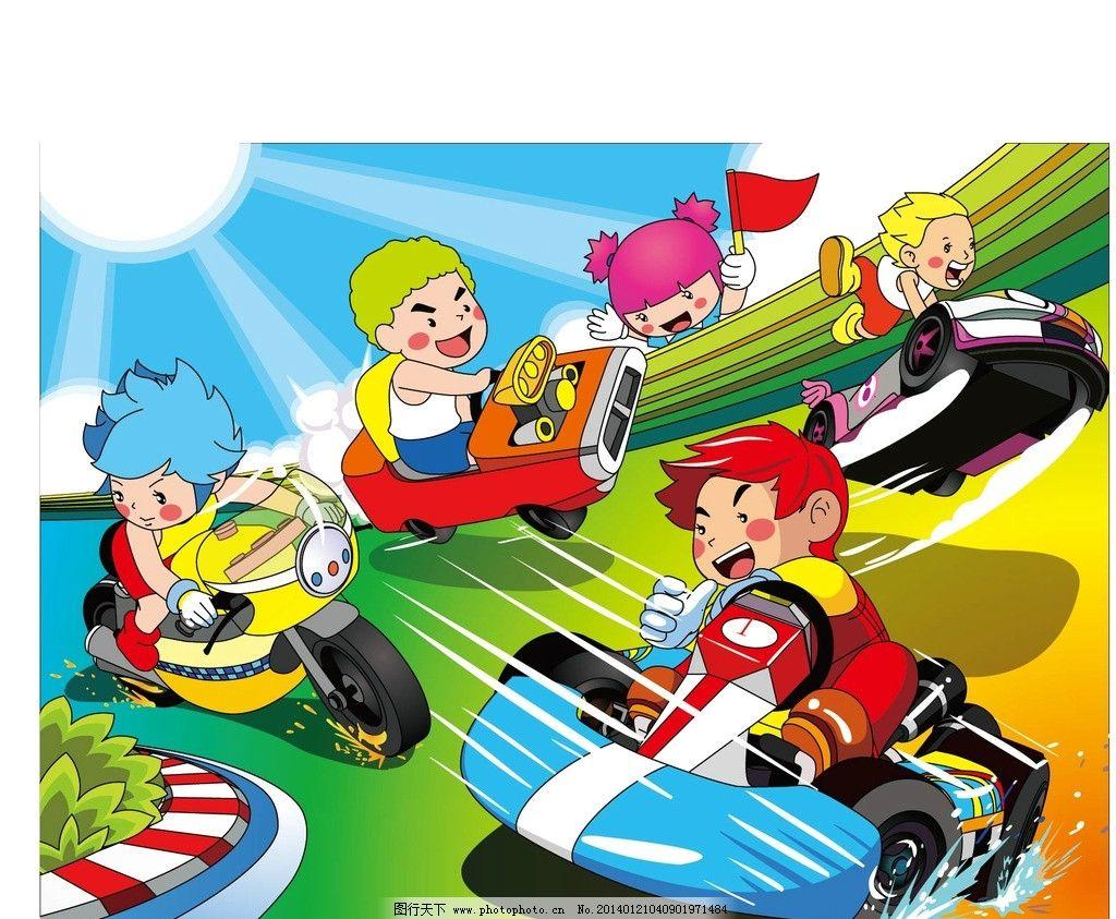 幼儿画画赛车图片大全