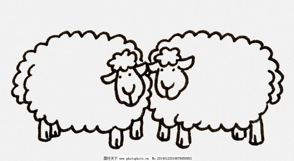 卡通羊 卡通 漫画 小羊 插画 山羊 站立 其他 动漫动画 设计 300dpi