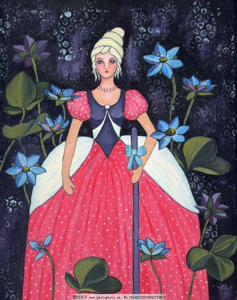 可爱女孩 女孩 油画素材 欧洲油画 公主 卡通油画 油画 绘画书法 文化
