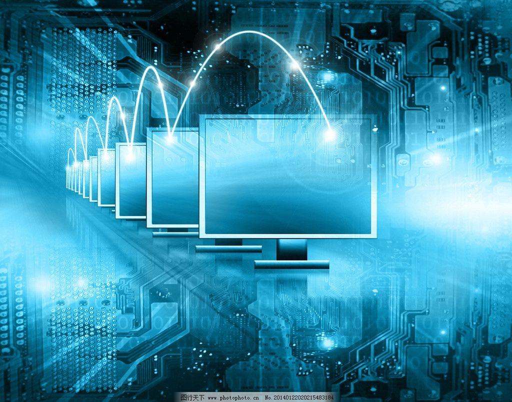 科技背景 电路板 笔记本电脑